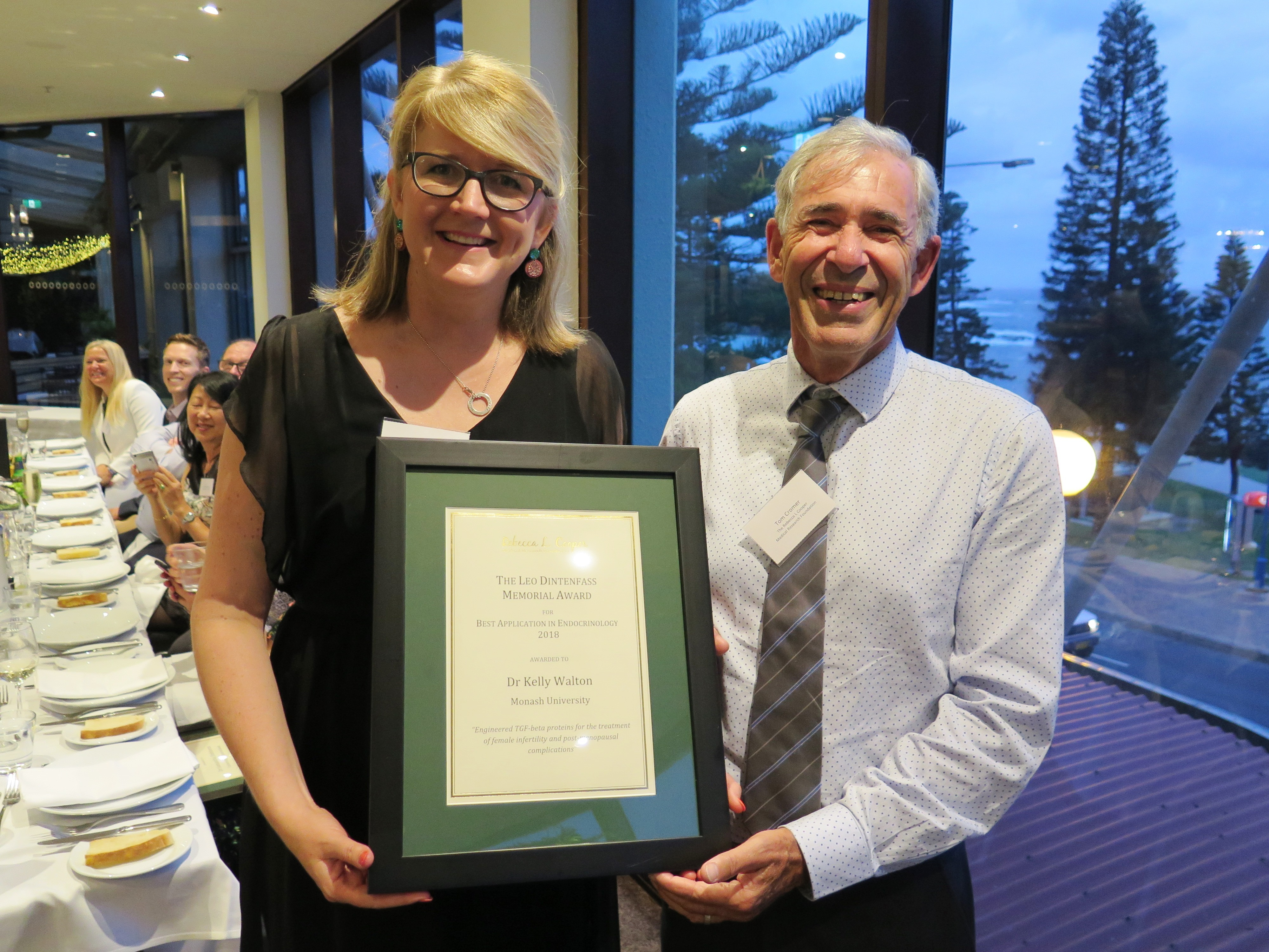 The Leo Dintenfass Memorial Award for Best Application in Endocrinology
