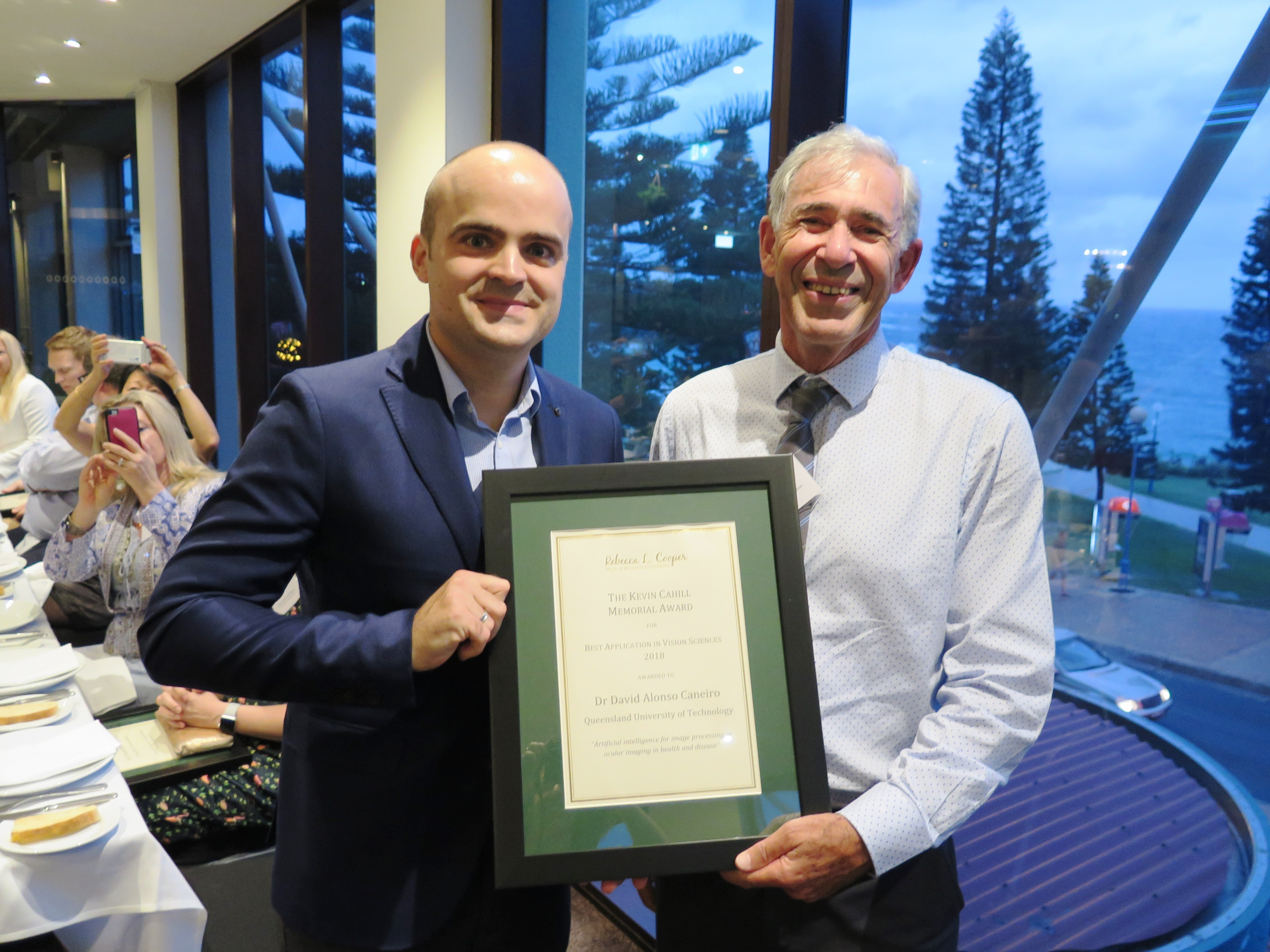 The Kevin Cahill Memorial Award for Best Application in Vision Sciences