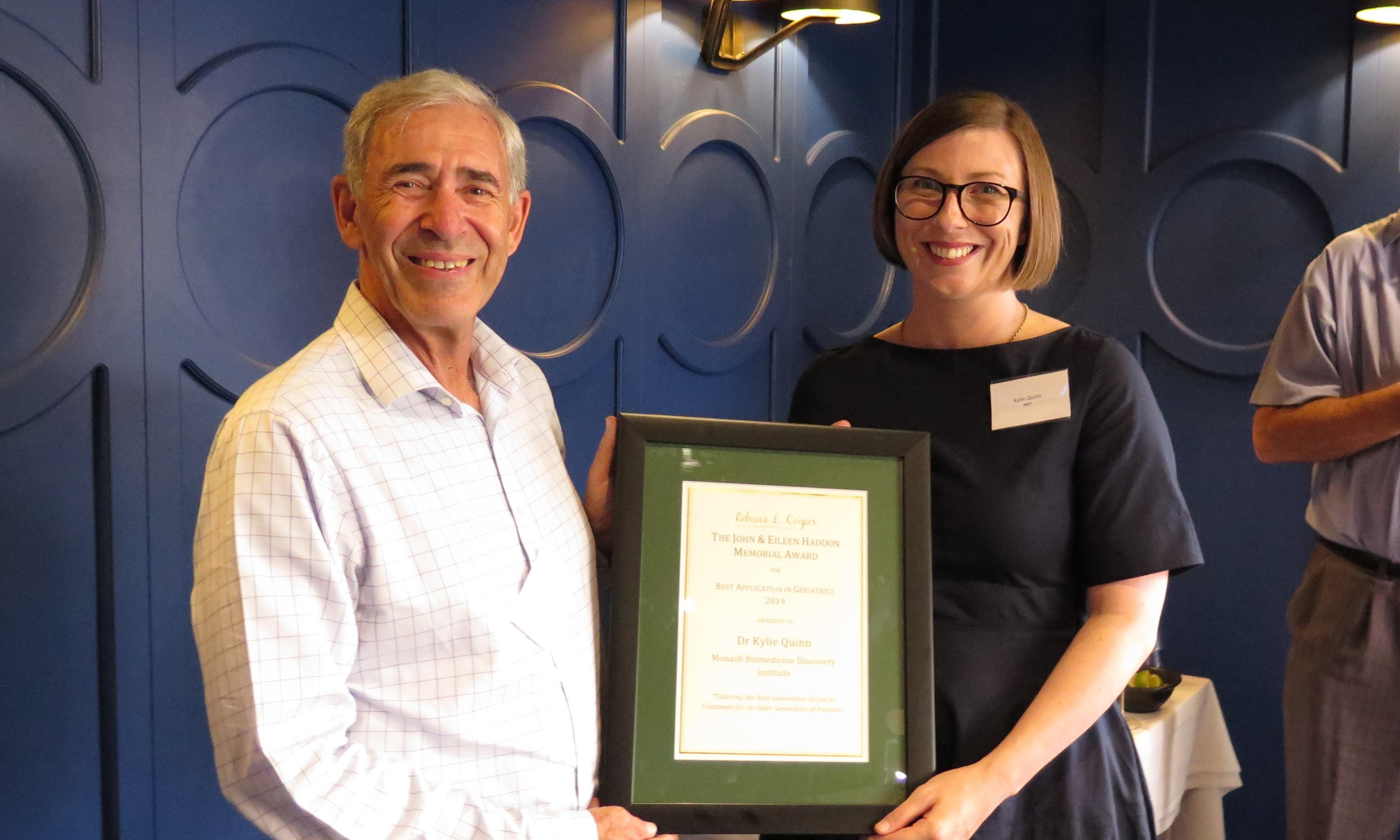The john & Eilleen Haddon Memorial Award for Best Application in Geriatrics